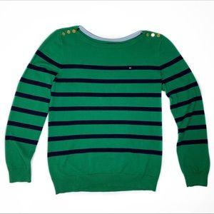 Tommy Hilfiger Breton Stripe Pima Cotton Sweater M